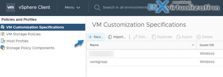 What is VMware VM Customization Specification and How to use