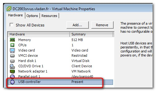VM hardware version 7