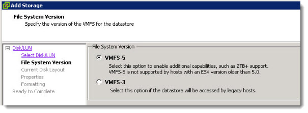 iSCSI connection from ESXi 5 to Drob Elite/b800i - creating datastore