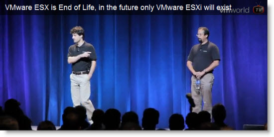 VMware ESX 4.1 is the last release of ESX Classic with service Console