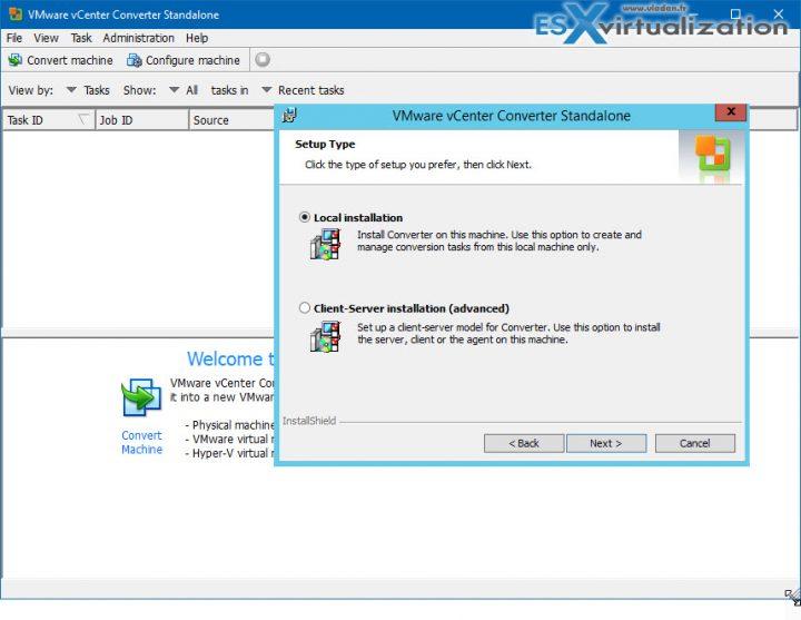 VMware Converter Setup