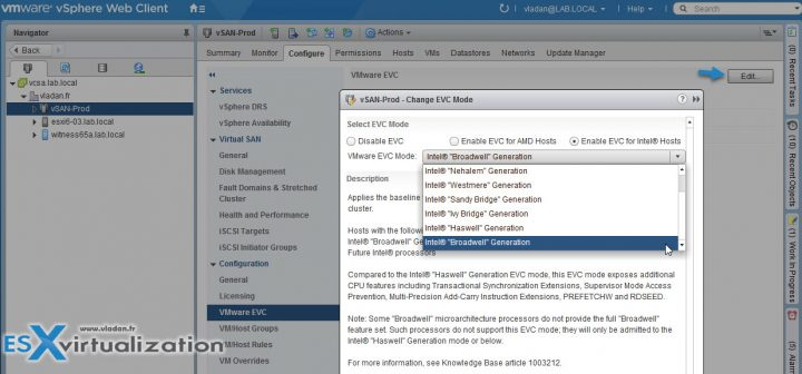 VMware Enhanced vMotion Compatibility EVC