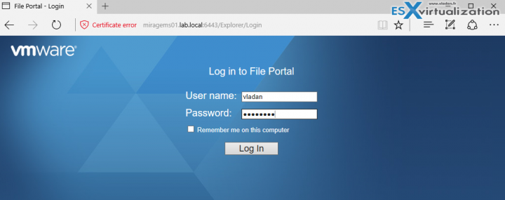 VMware Mirage File Portal