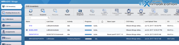 VMware Mirage Migration to Windows 10