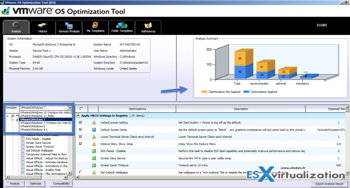 VMware OS Optimization Tool Overview