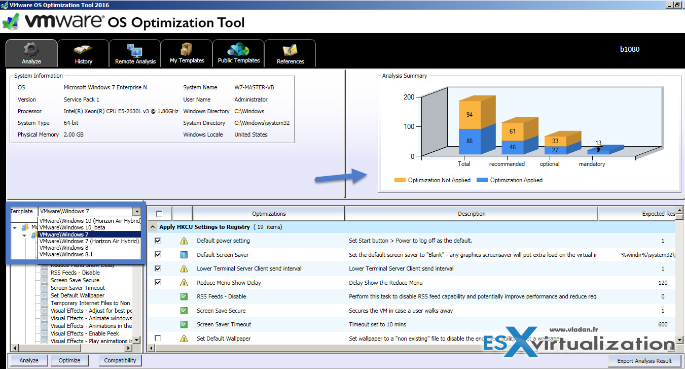 VMware OS Optimization Tool Update (OSOT) - Free Utility for OS and