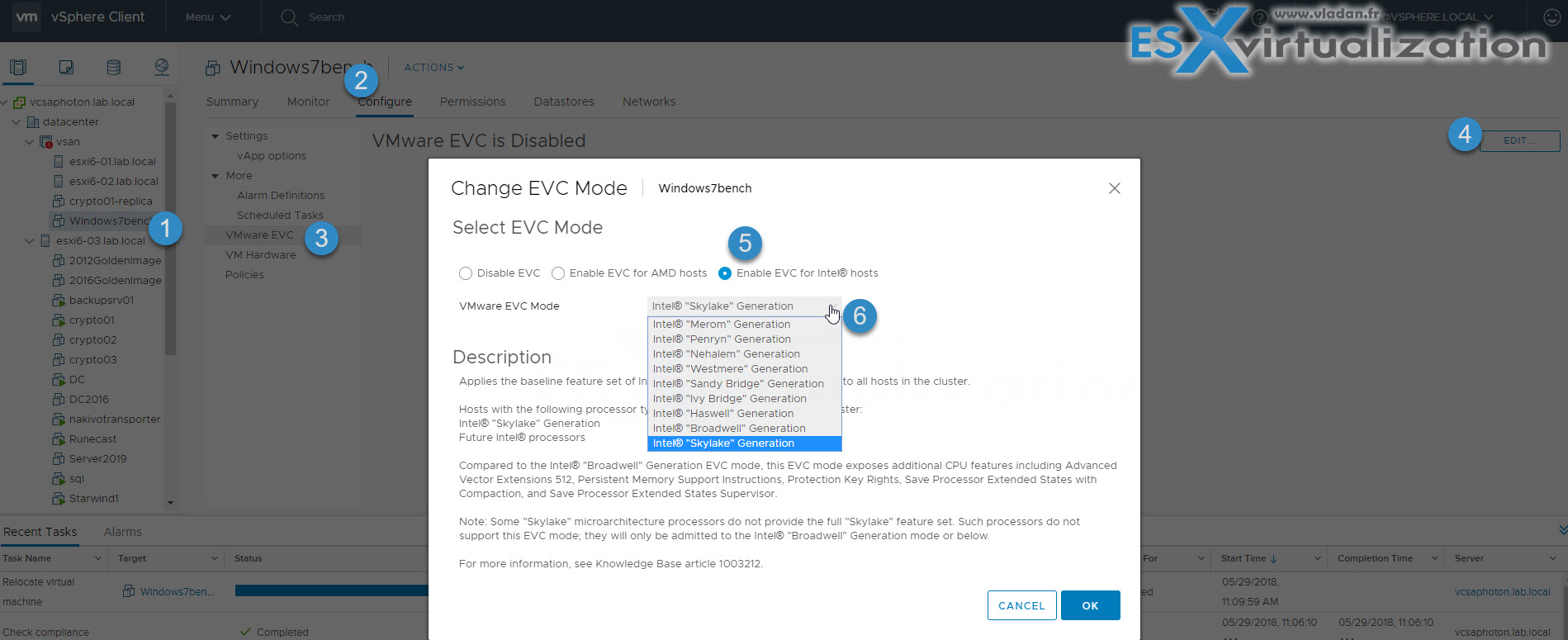 What is VMware Per-VM EVC? | ESX Virtualization