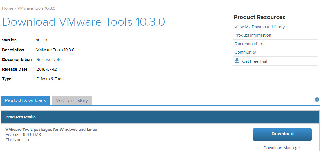 Manual Download of VMware Tools from VMware Website | ESX