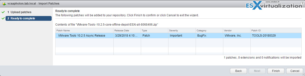 VMware Tools Offline VIB for ESXi Host - Bundle Download and Install