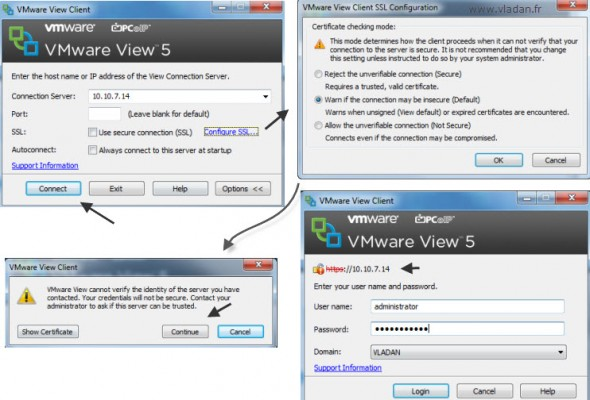 VMware View - Connecting to the virtual destop