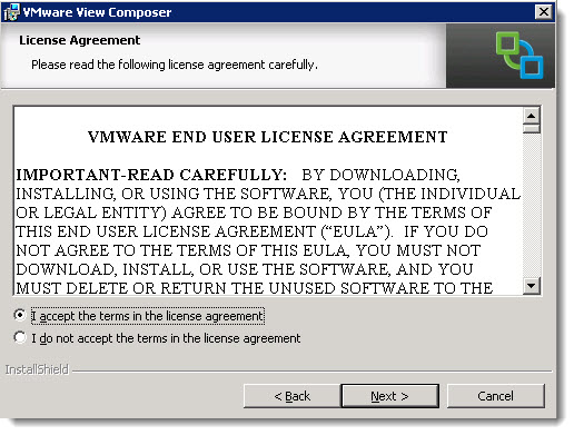 How to install VMware view composer