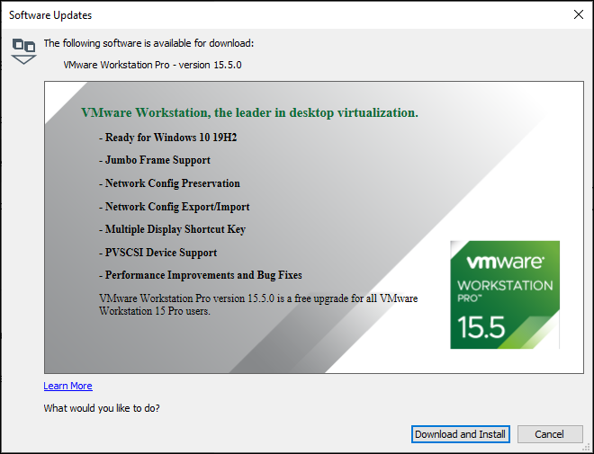 VMware Workstation 15.5