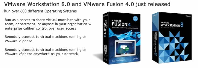 VMware Workstation 8.0 and VMware Fusion 4.0 released