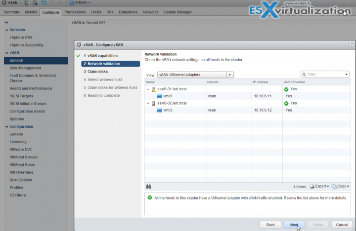 VMware vSAN 6.6 2-Network validation