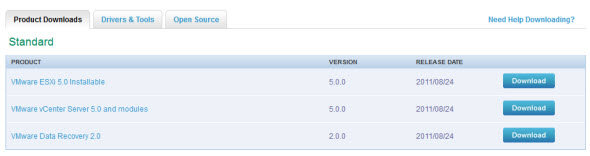 VMware vSphere 5 available for download now !