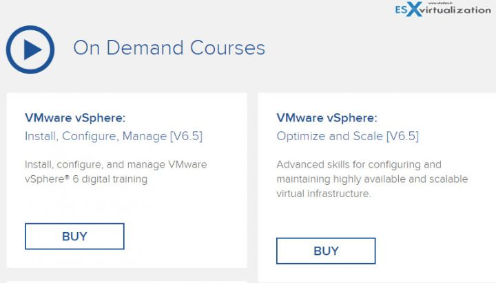 VMware On Demand Courses