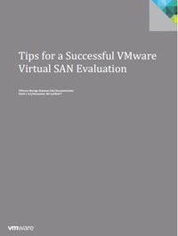 VMware VSAN Tips for deployment and POC