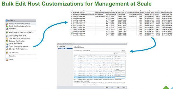 VMware Update Manager 6.5 bulk edit export/import