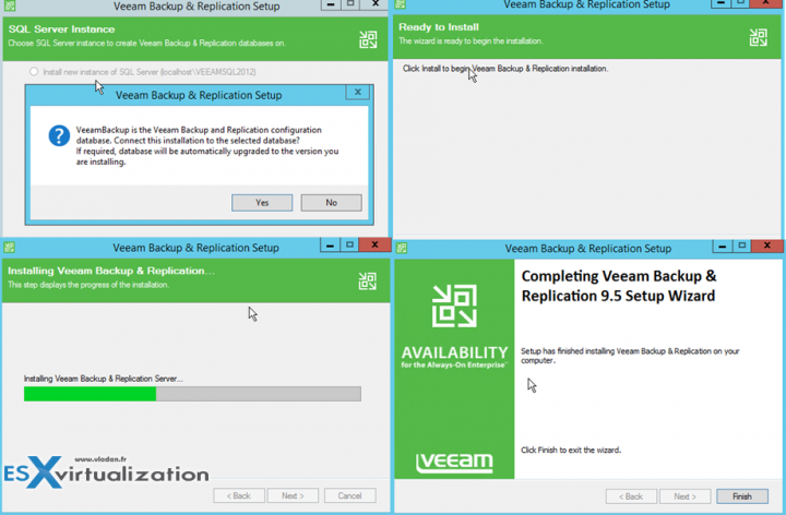 Veeam 9.5 how to upgrade