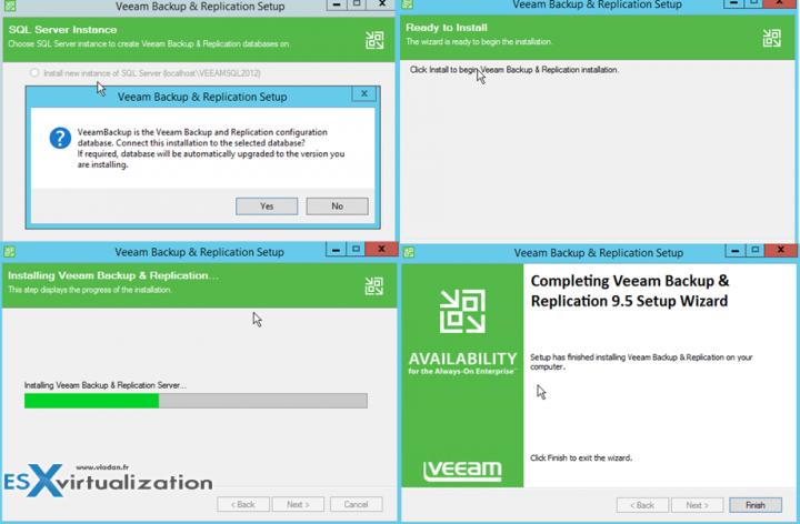 Veeam 9.5 how to upgrade