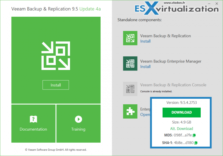 Veeam Backp and Replication 9.5 U4a