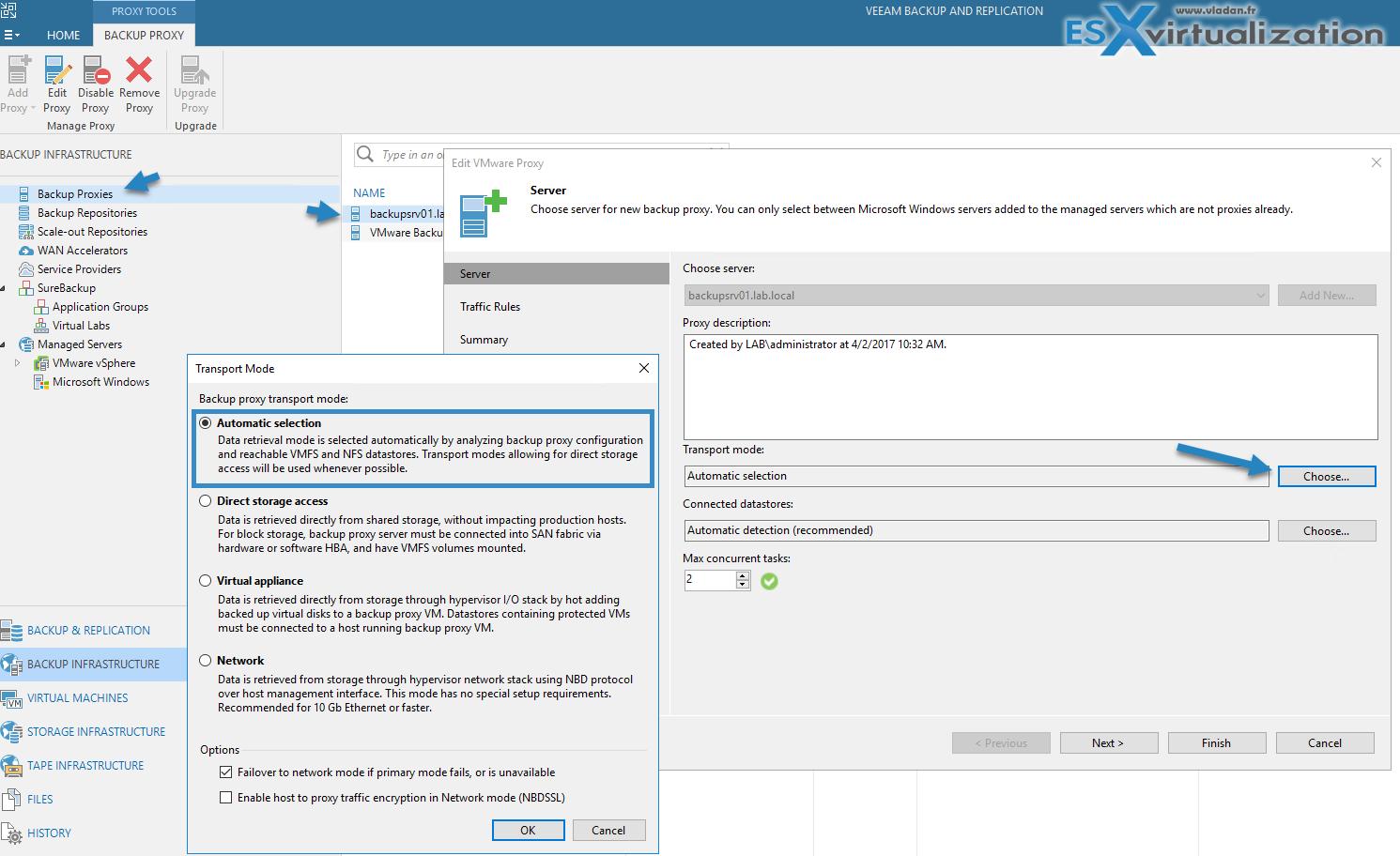 What is Veeam Proxy? | ESX Virtualization