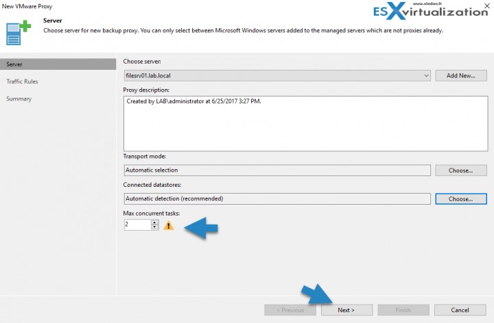 Veeam backup proxy install