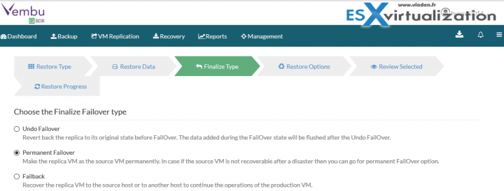 Vembu Failover