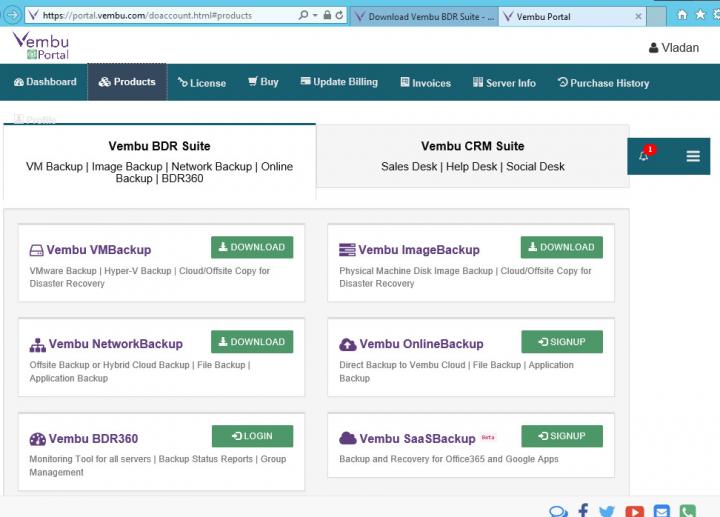 Vembu Technologies Portal