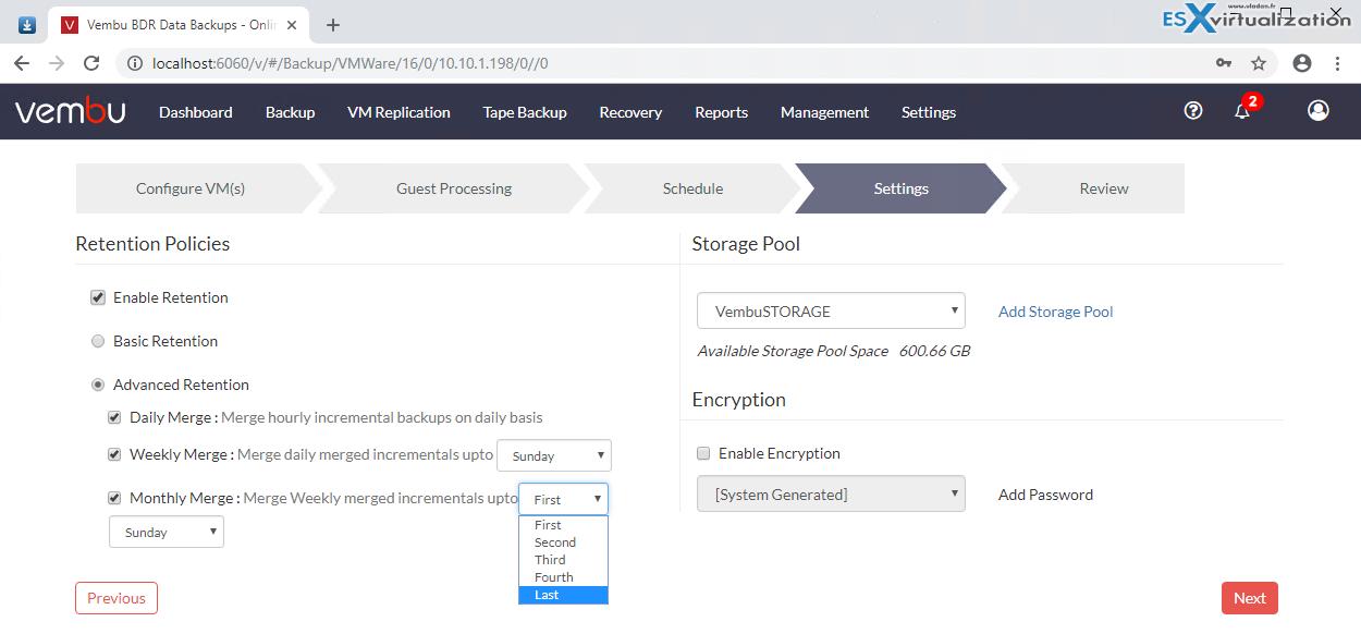 Vembu BDR Suite 4 0 Product Review | ESX Virtualization