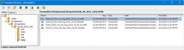 Vembu Virtual Drive - Physical server backup as VMDK