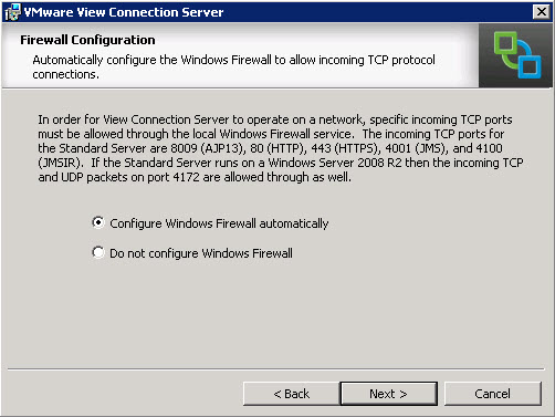 How to install VMware View Connection server