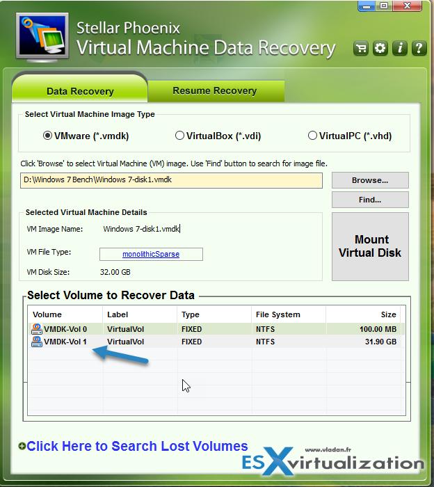 Stellar Phoenix Virtual Machine Data Recovery   ESX