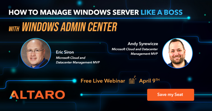 Windows Admin Center Deep Dive