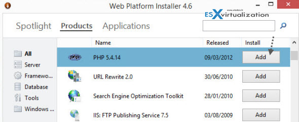 WEB IIS and PHP Setup   The Easy Way On Windows Server 2012 With Web Platform Installer