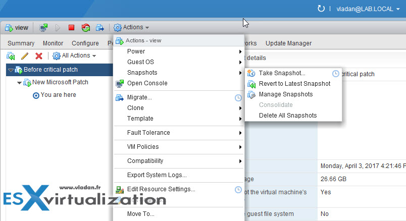 What is VMware Snapshot? | ESX Virtualization