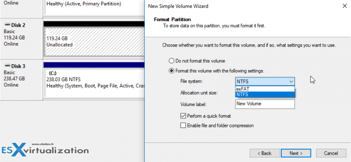 Windows 10 and ReFS - First format as NTFS