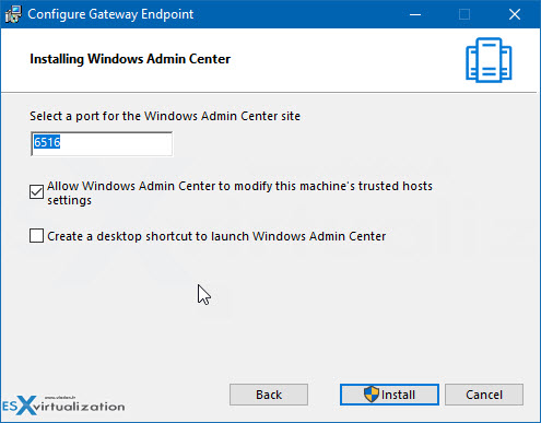 Windows admin center install