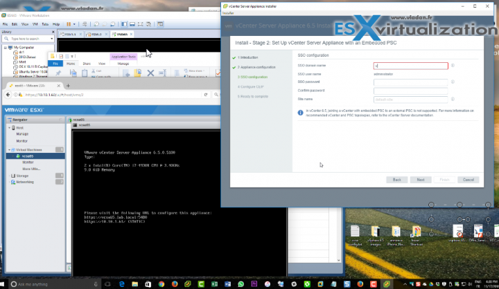How to deploy VMware VCSA 6.5 in VMware Workstation