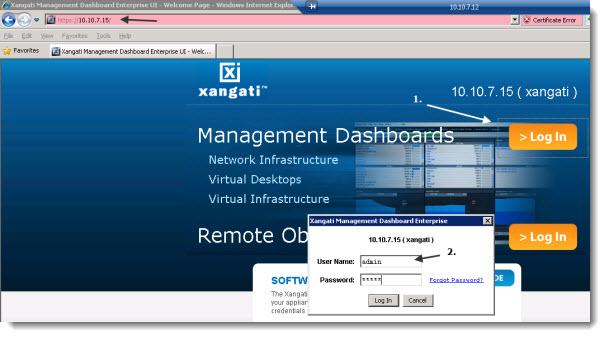 Xangati setup through web browser - The second part of the setup