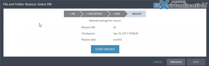 Zerto Journal File Level Recovery - Disk mount