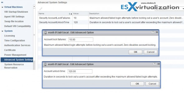 ESXi 6.0 - Account Lockout settings