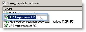 Acpi uniprocessor pc vga drivers for windows 7