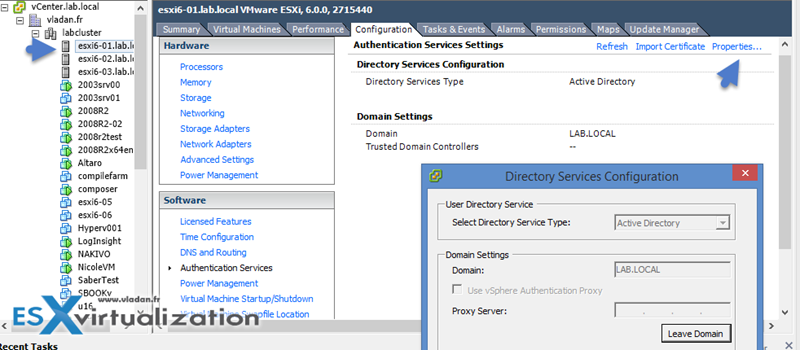 Use AD to manage ESXi hosts