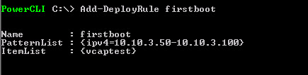 Add-DeployRule command for vSphere AutoDeploy