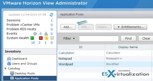 add rds app 590x313 How to publish RDS application in Horizon View 6