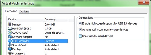 Great tip how-to boot from USB stick inside of VMware