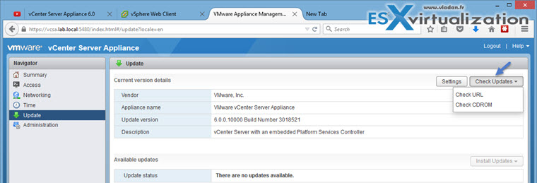 VMware vCenter Server 6.0 U1 (VCSA) - How to install, configure