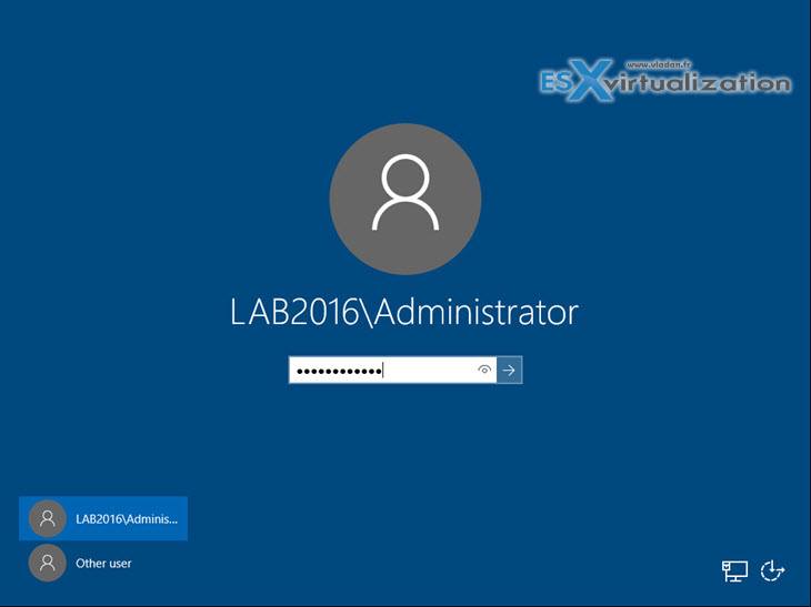 Windows Server 2016 Domain Admin Login