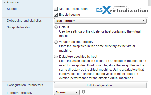 VMs Options through vSphere Web Client